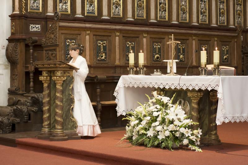 ceremonia ślubna, ślub w Bazylice Wniebowzięcia Najświętszej Maryi Panny w Koronowie057