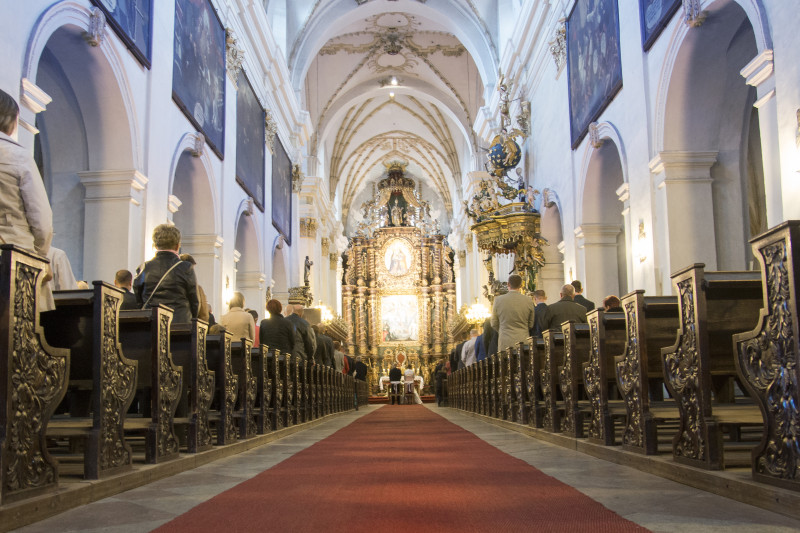 ceremonia ślubna, ślub w Bazylice Wniebowzięcia Najświętszej Maryi Panny w Koronowie100